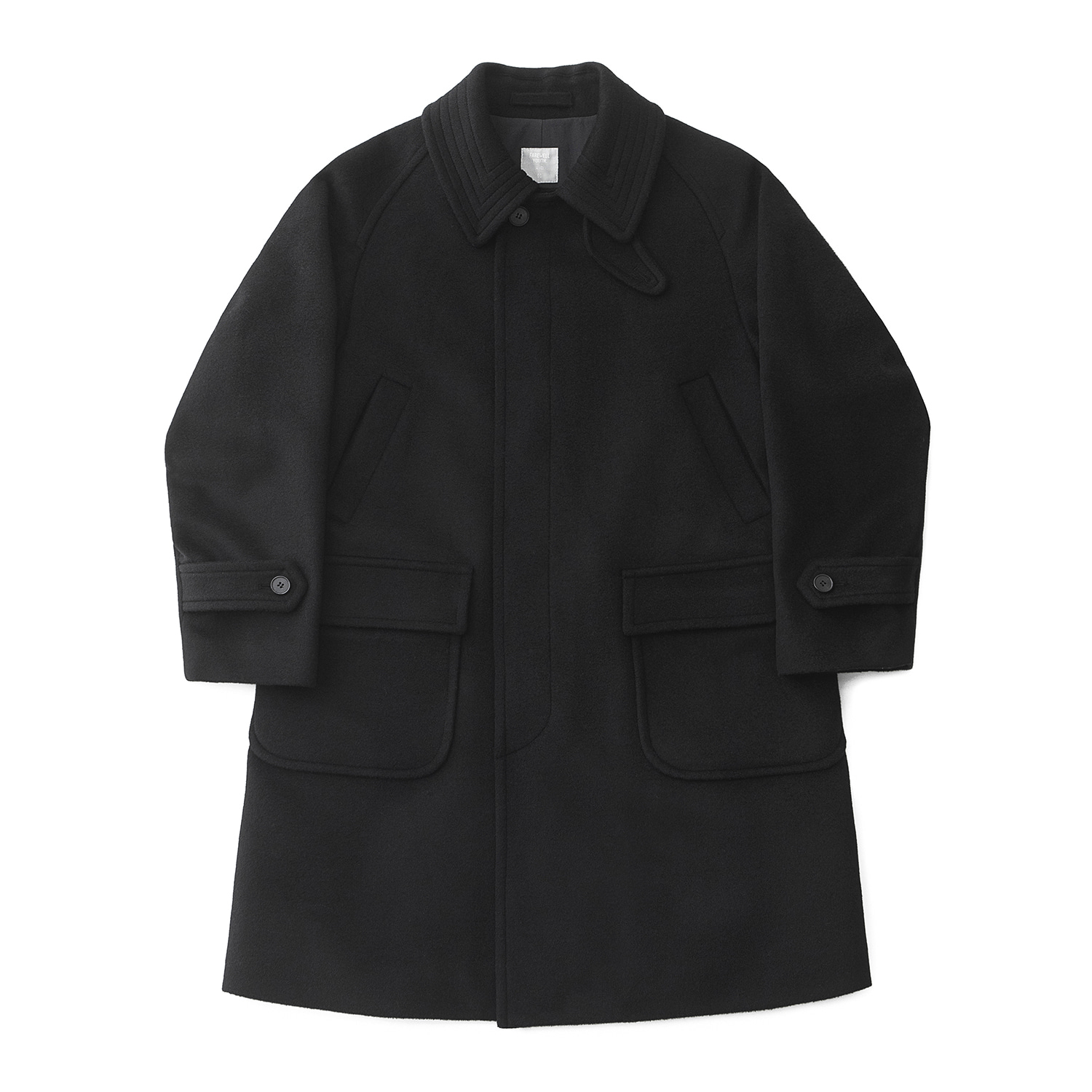 [11월 말 재입고] Voyager Balmacaan Coat (Soft Black)