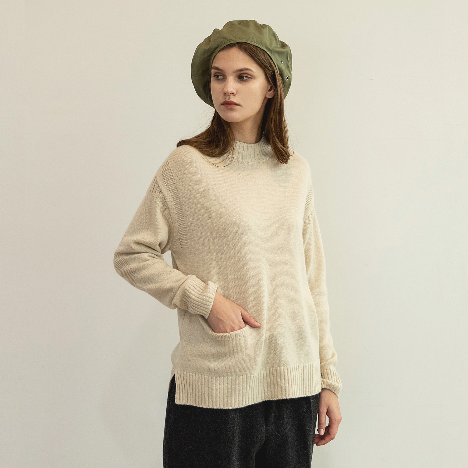 Women Guernsey Sweater (Ecru)