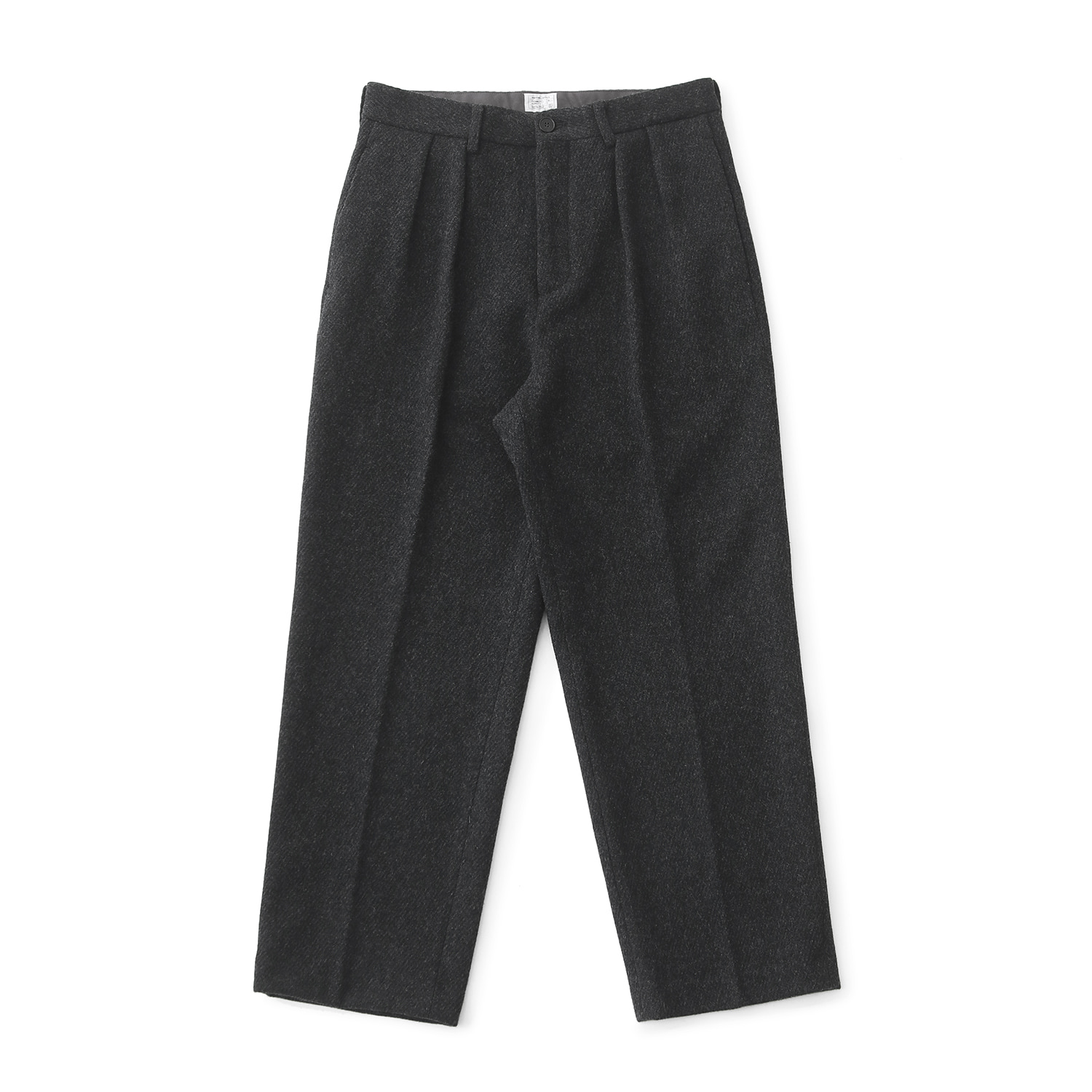 Shape Wool Twotuck Pants (Heather Charcoal)