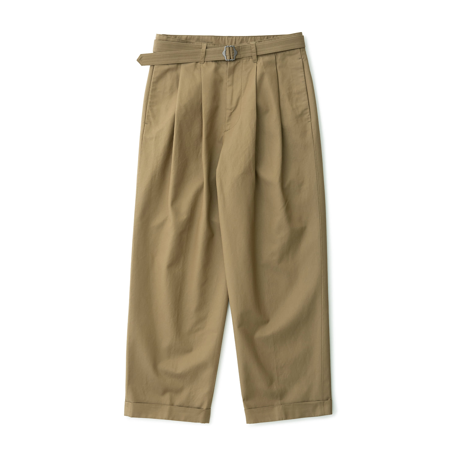 Balance Belted Turn Up Pants (British Khaki)