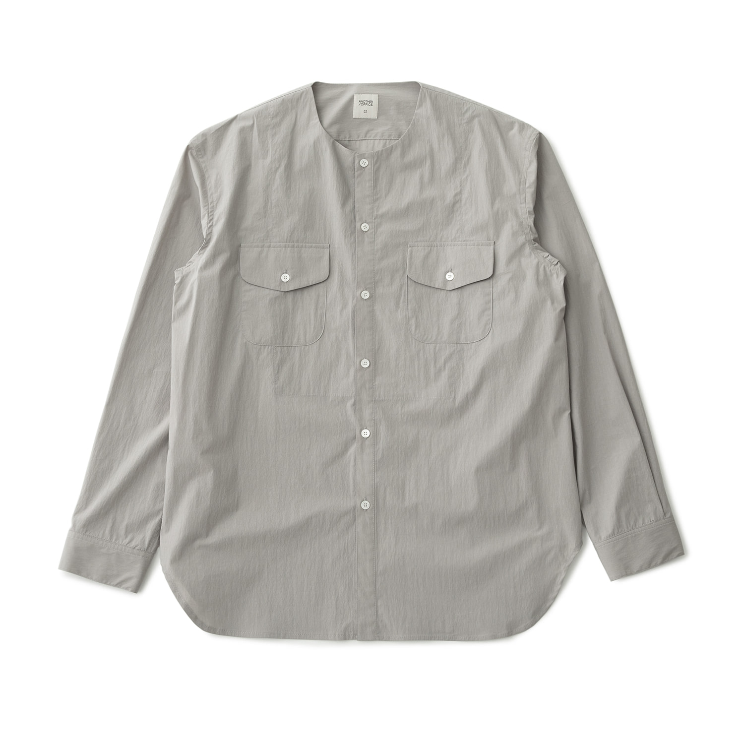 21SS Layer Round-neck Shirt (Misty Gray)