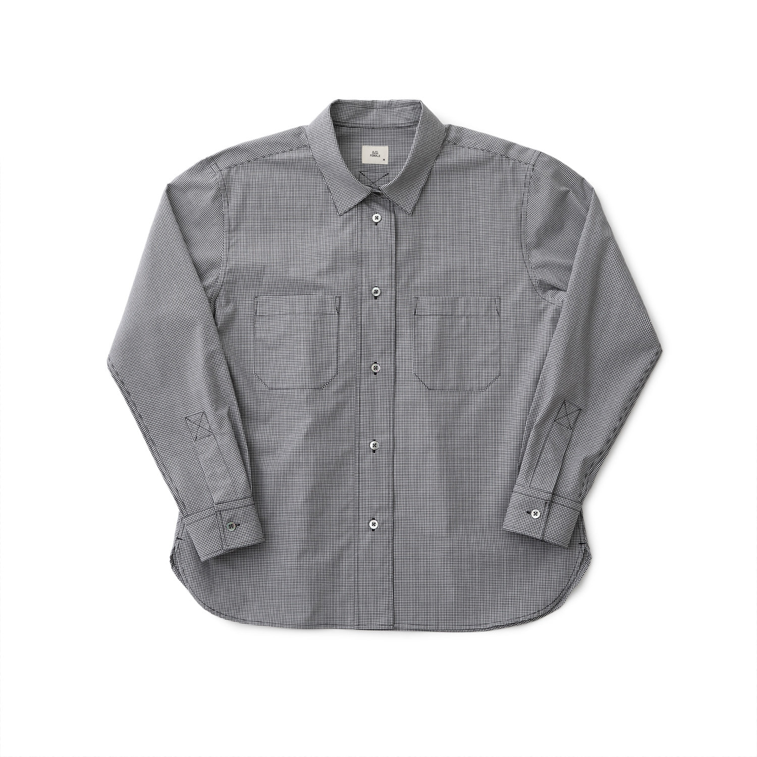 21SS Women Editor Shirt (Gingham Check)