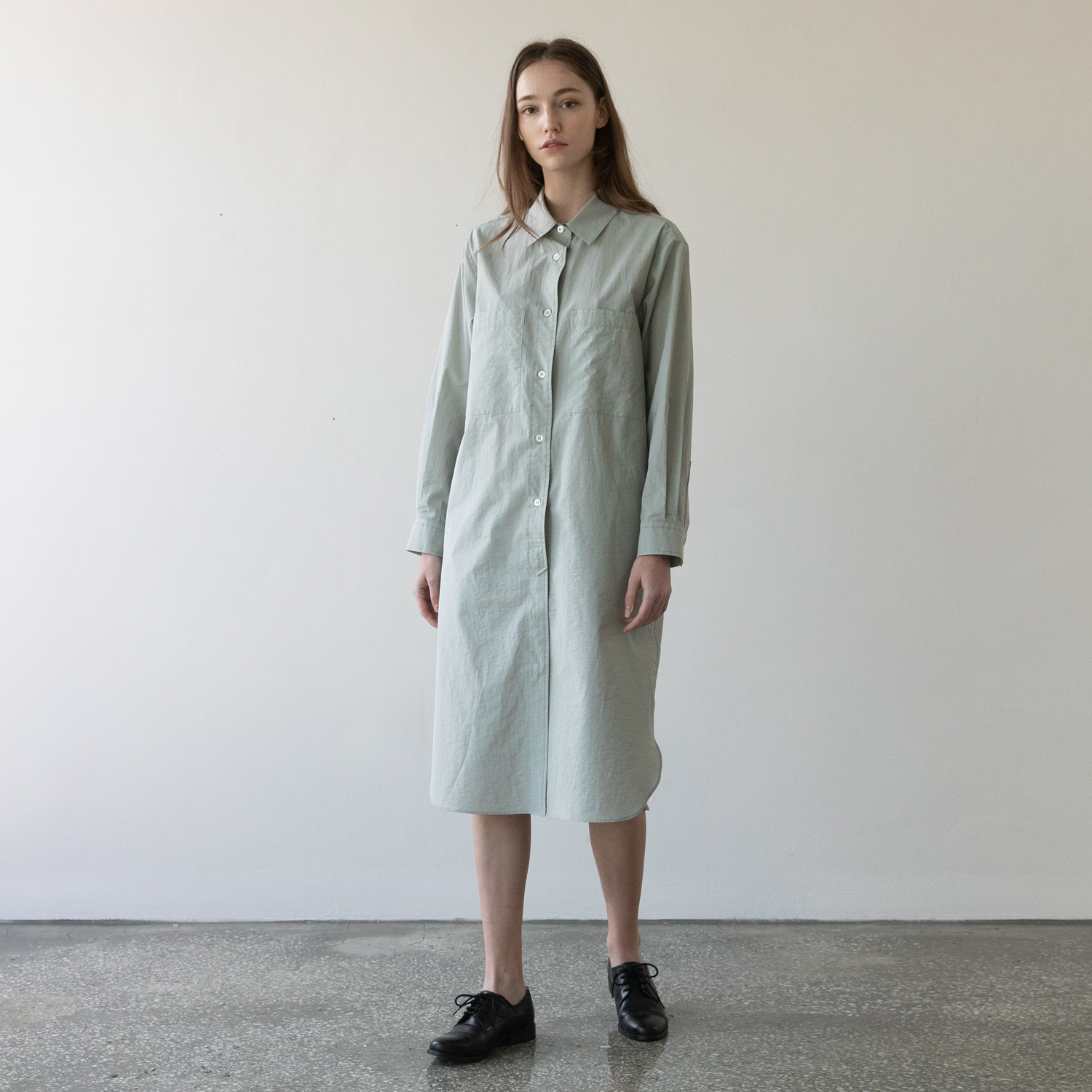 21SS Women Broad Shirtdress (Seasalt)
