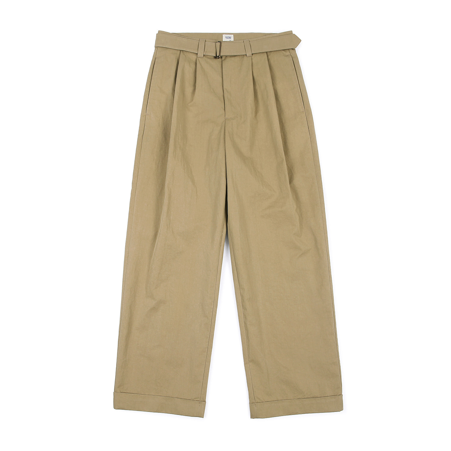 25%OFF_Hemingway Belted Turn-up Pants (Khaki)