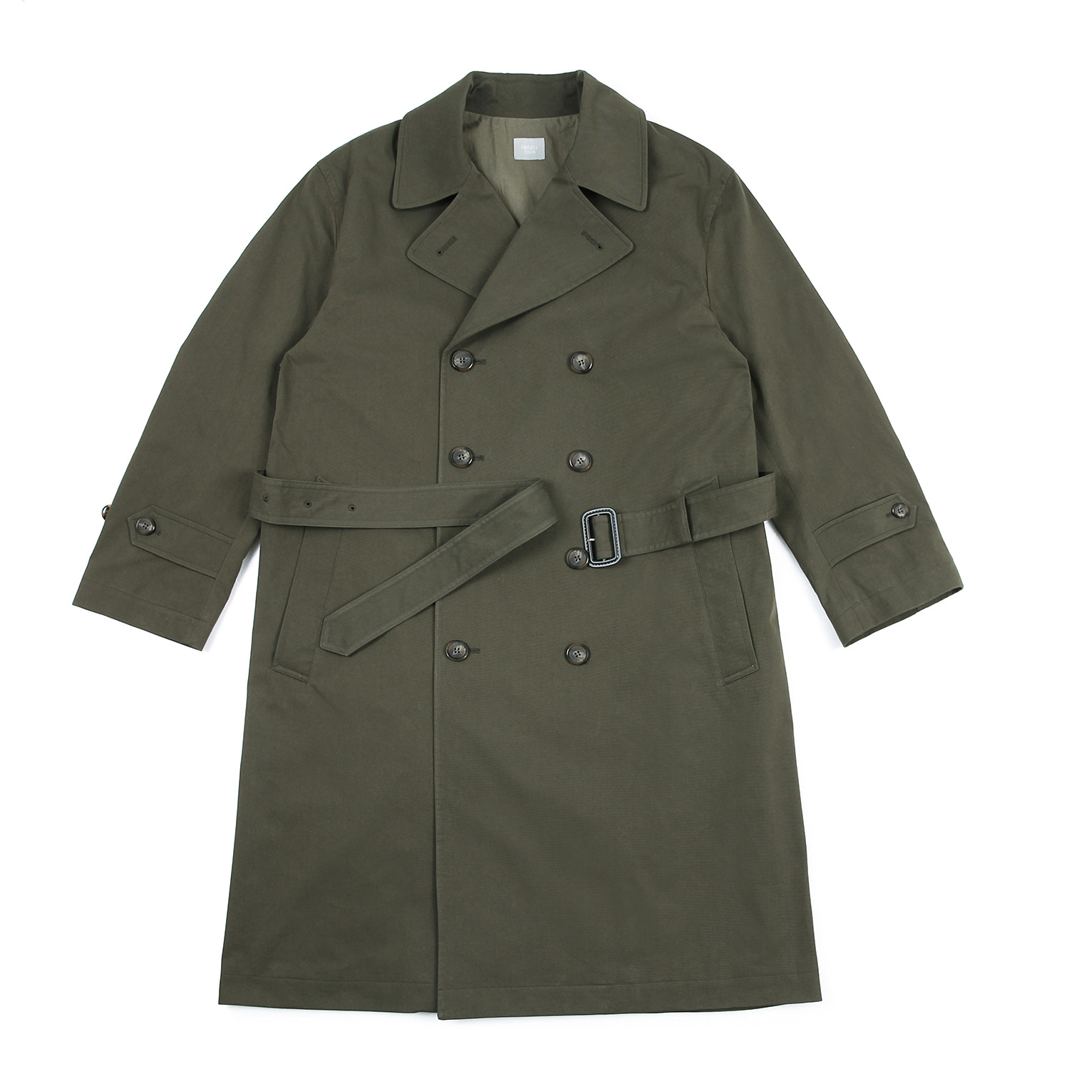 25%OFF_Farewell Youth Trench Coat (Deep Forest)