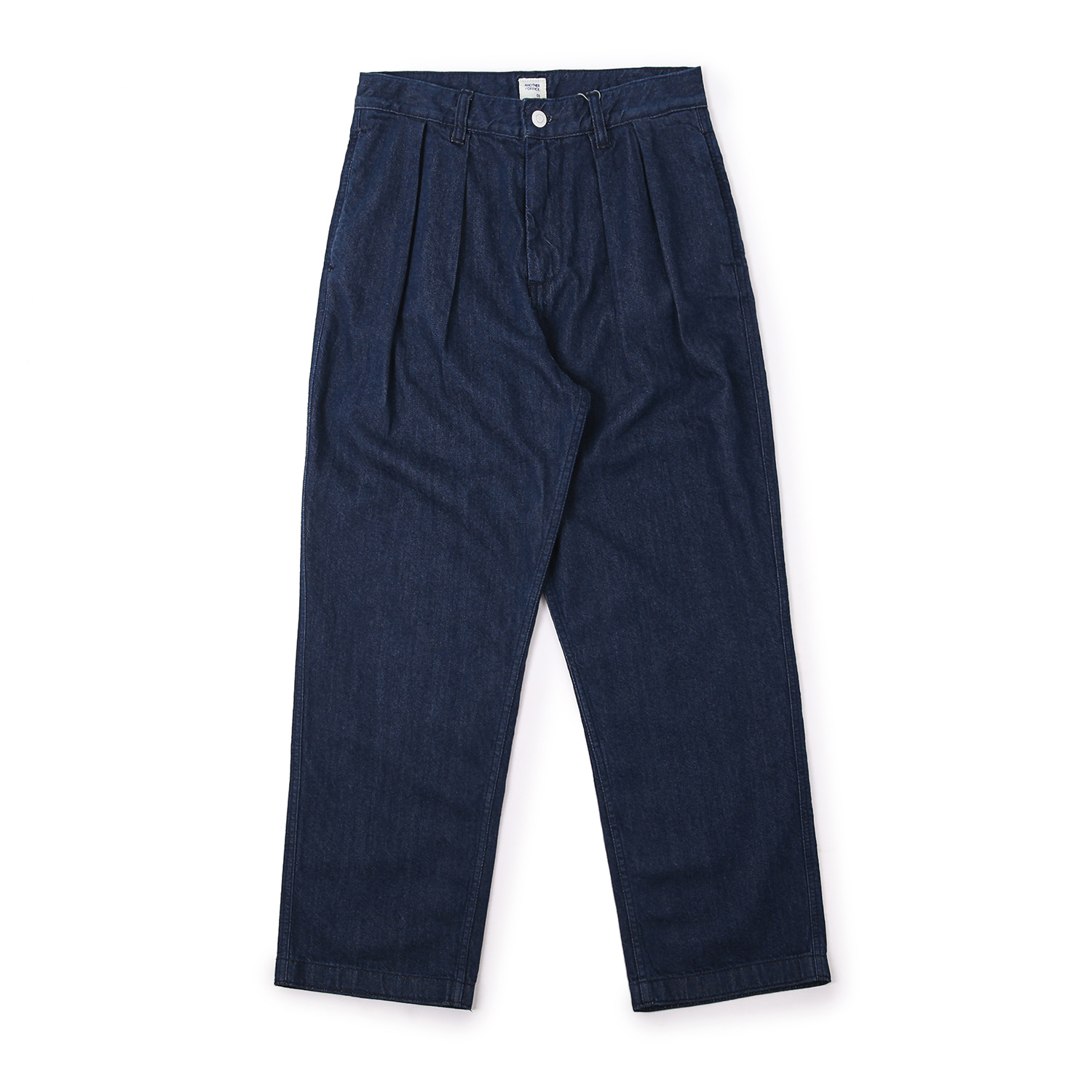 25%OFF_Officer Two-Tuck Denim Pants (Indigo)