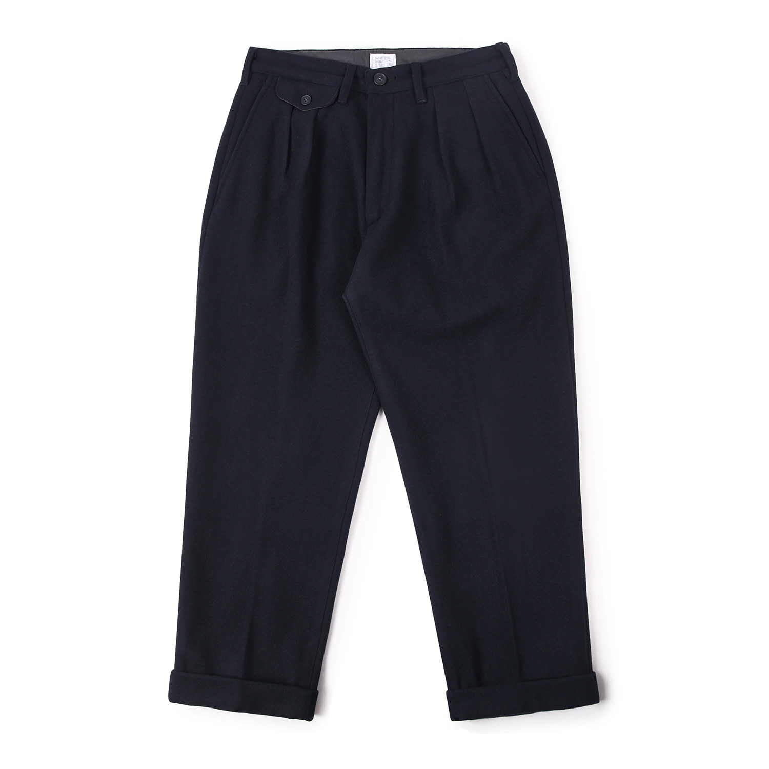 25% OFF_Balance Wool Turn-up Pants (Navy)