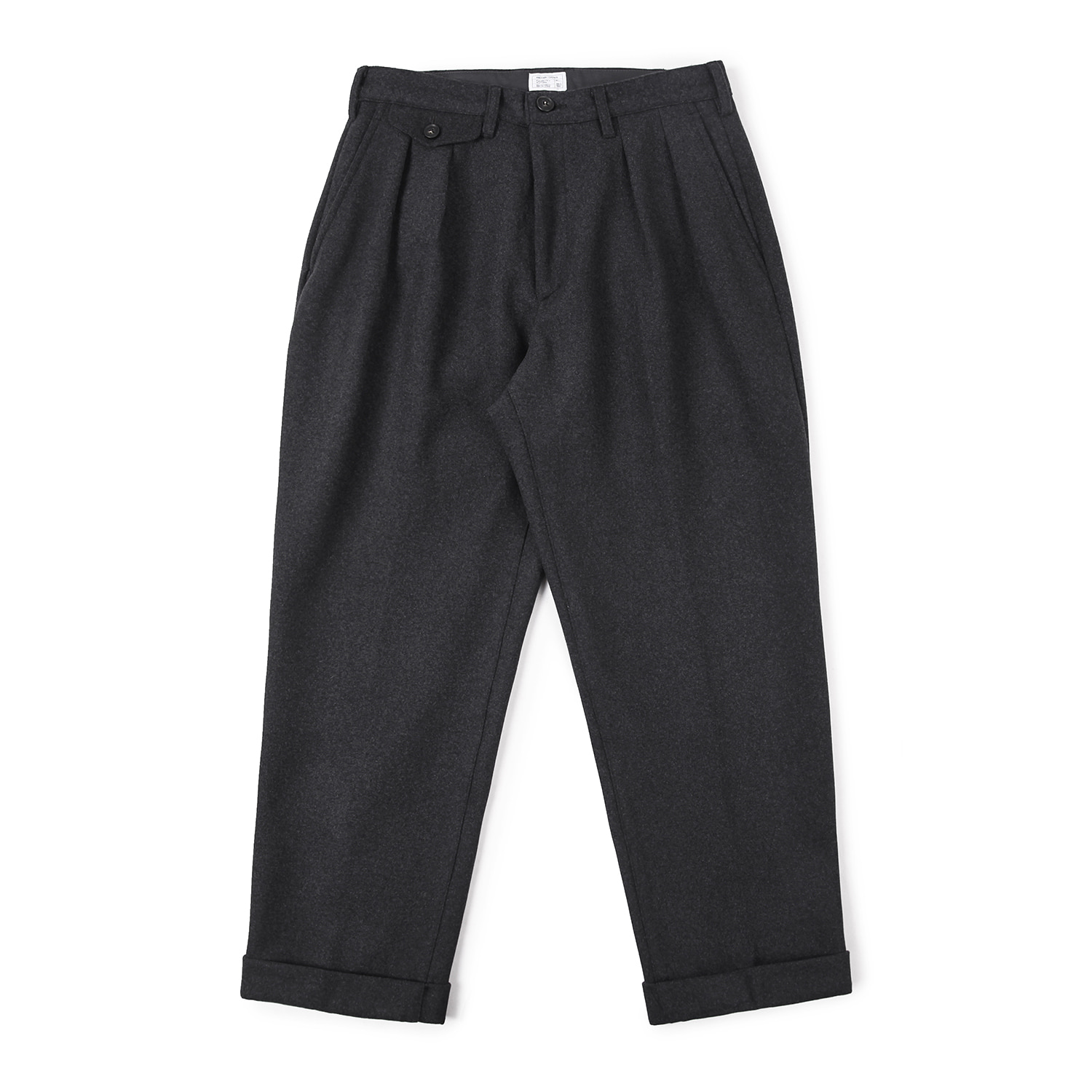 25% OFF_Balance Wool Turn-up Pants (Charcoal)