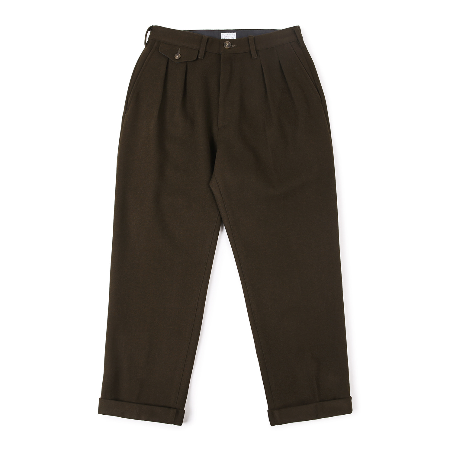 25% OFF_Balance Wool Turn-up Pants (Brown)