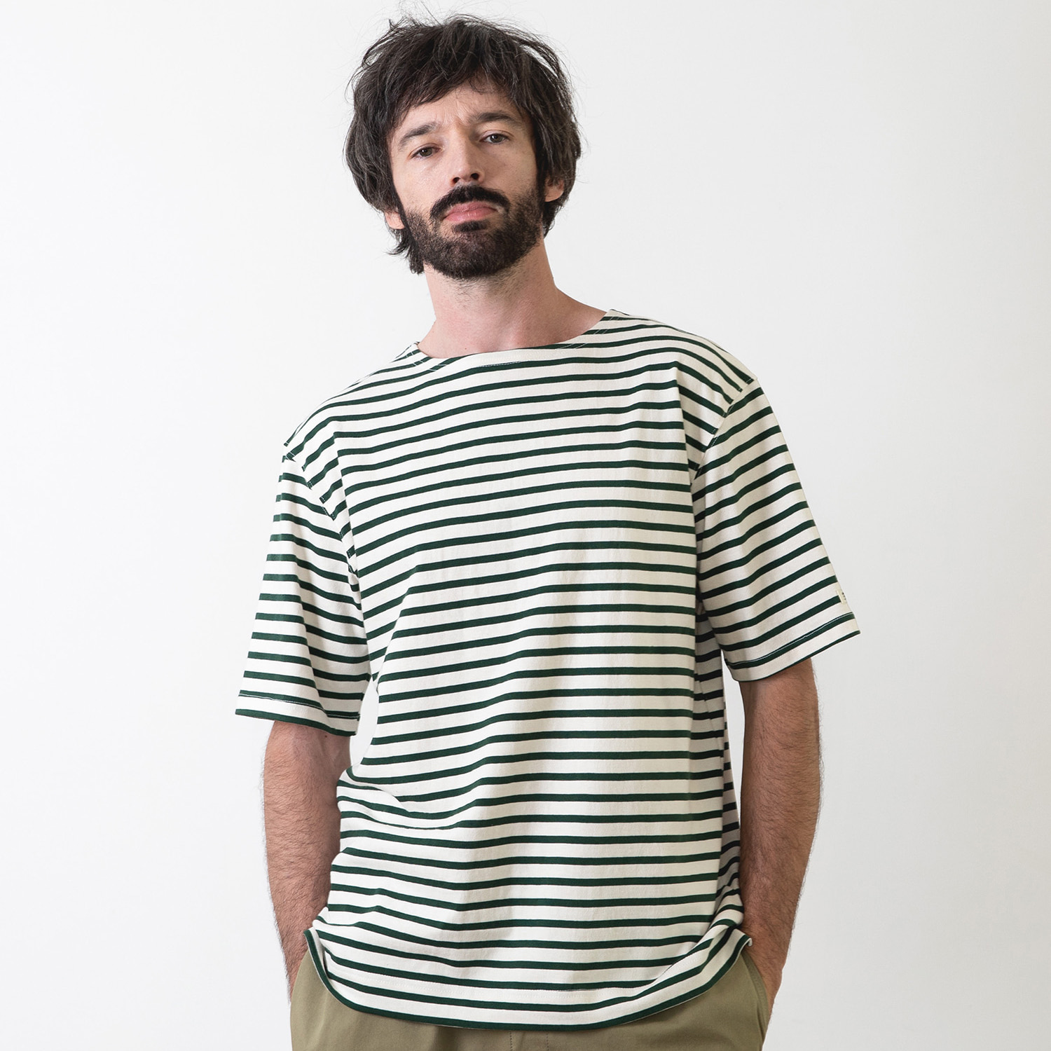 25% OFF_PIER BASQUESHIRT (Ecru/Forest)