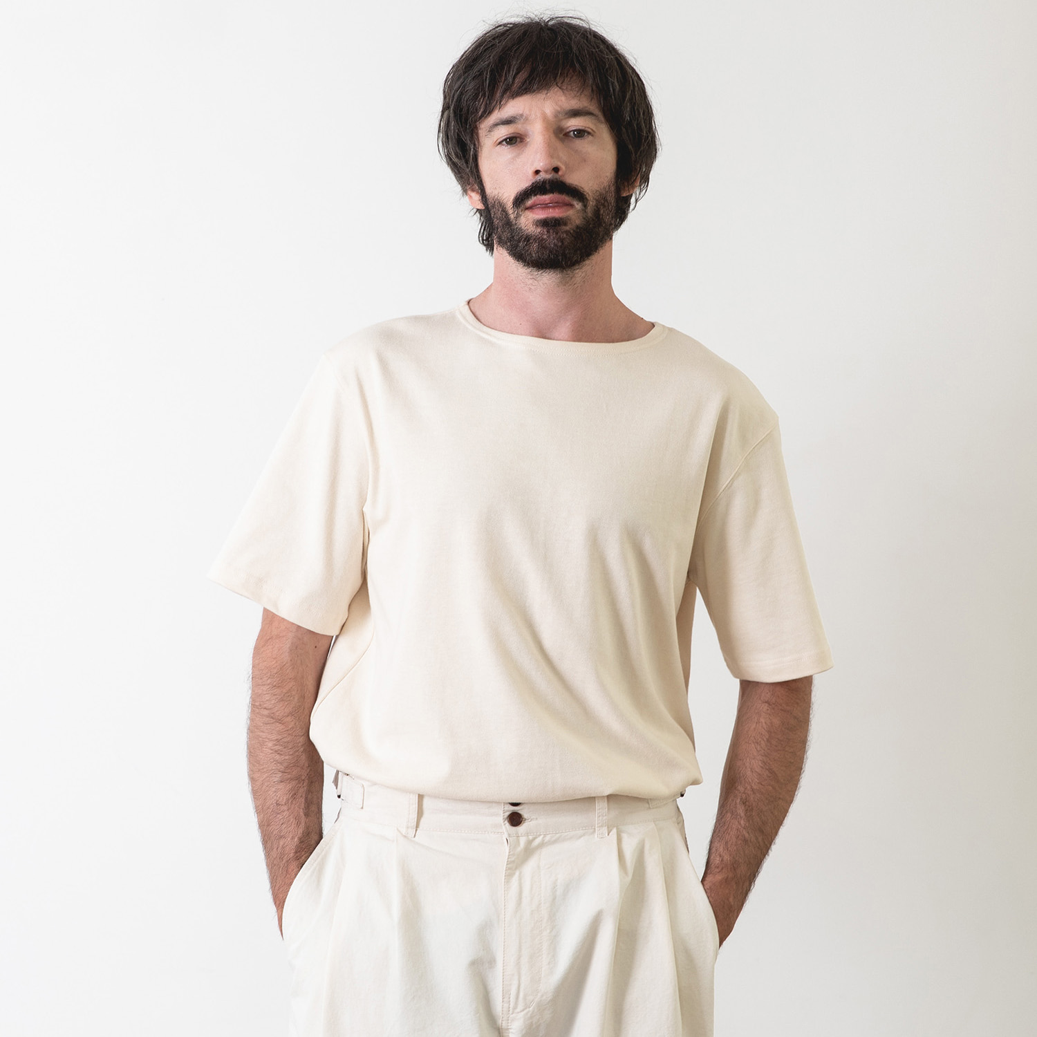25% OFF_LIBRE PLAIN BASQUESHIRT (Ecru)