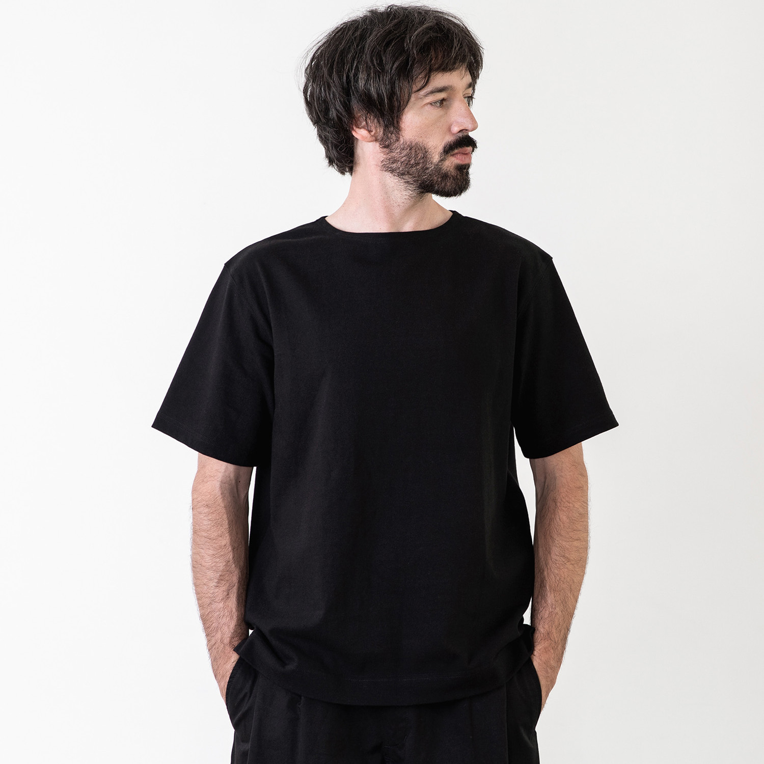 25% OFF_LIBRE PLAIN BASQUESHIRT (Black)