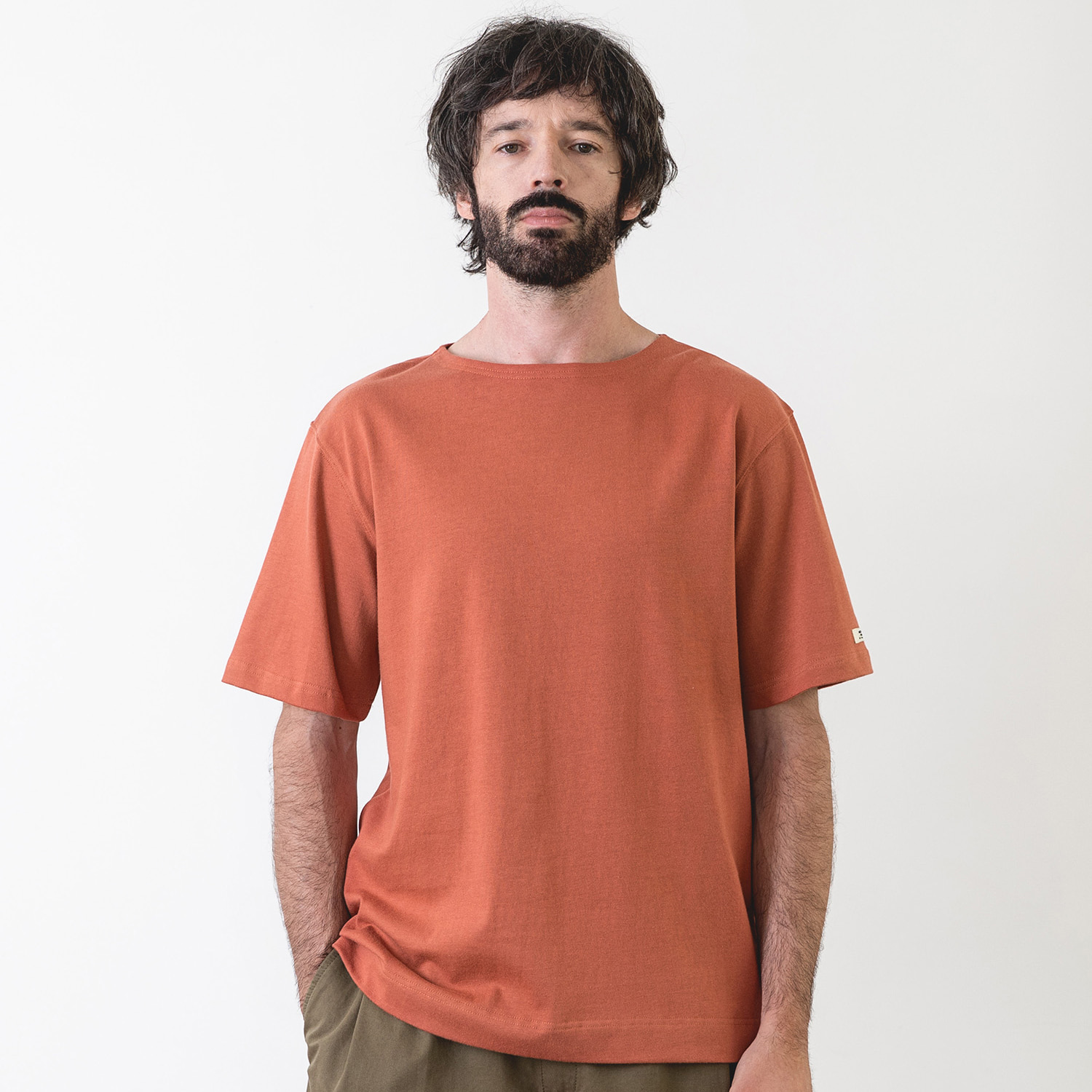 25% OFF_LIBRE PLAIN BASQUESHIRT (Sunset)