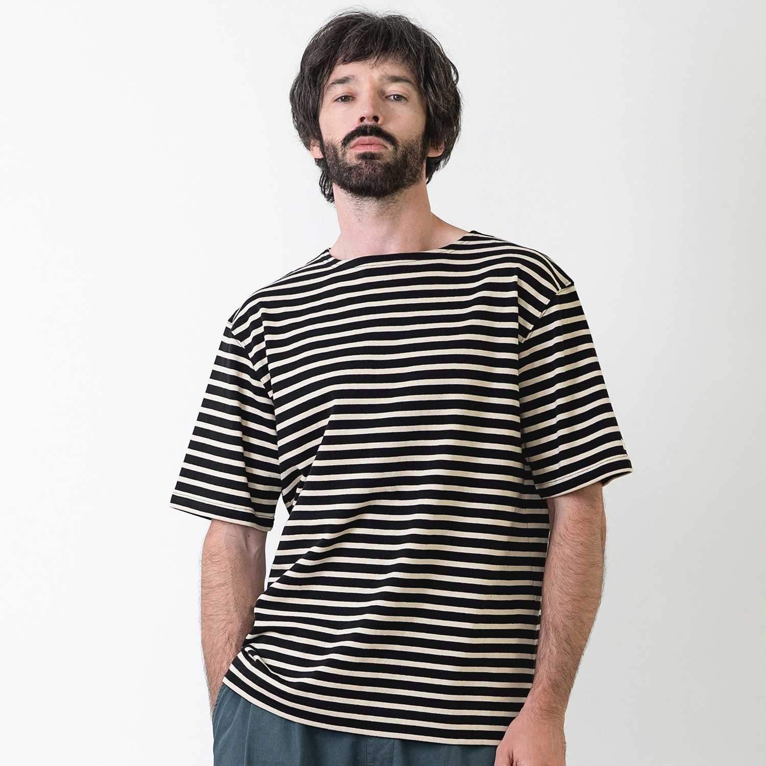 25% OFF_PIER BASQUESHIRT (Black/Beige)