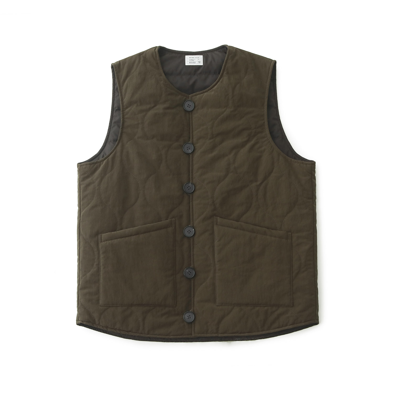 Layer Down Vest (Olive Brown)