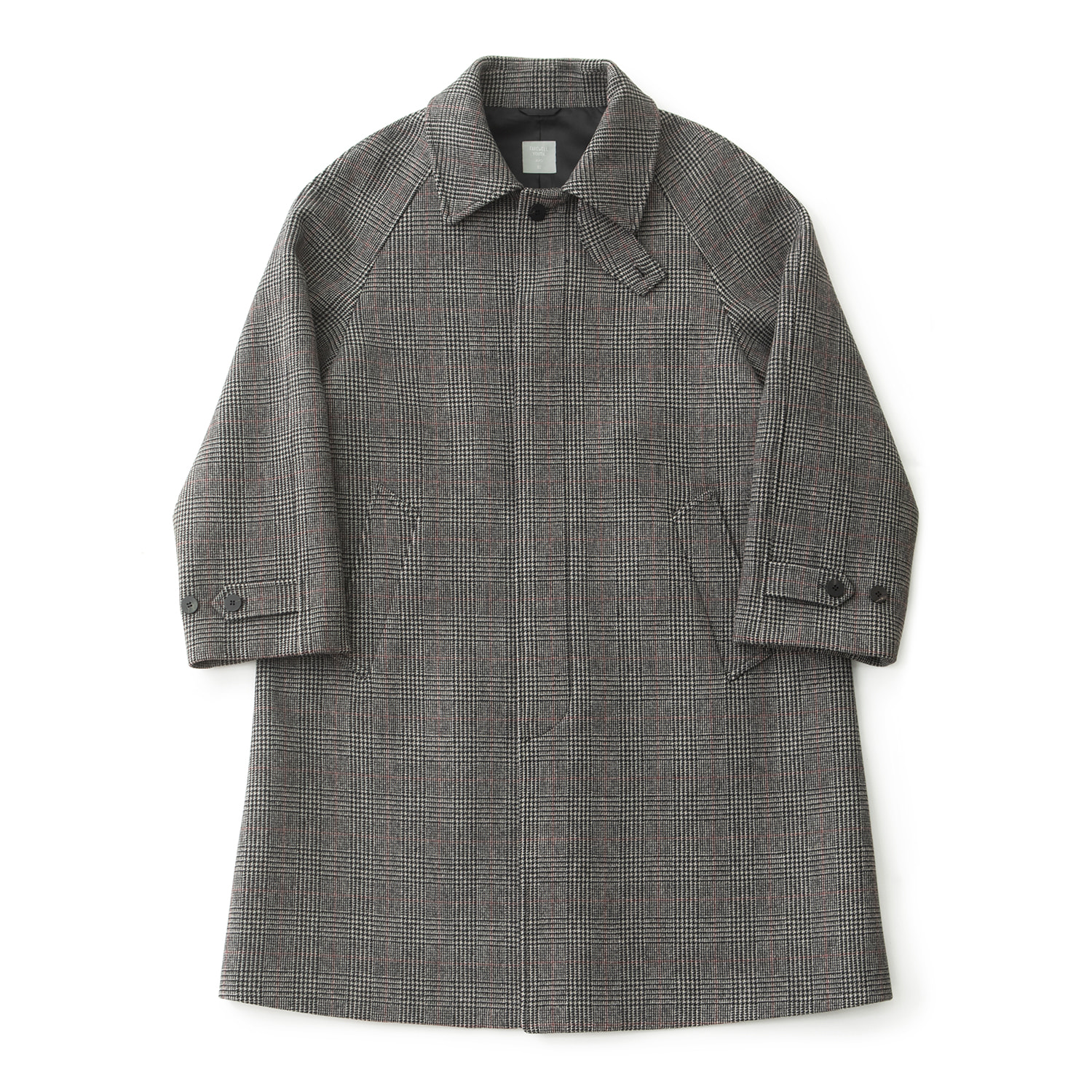 Legacy Balmacaan Coat (Cashmere Blend Check)