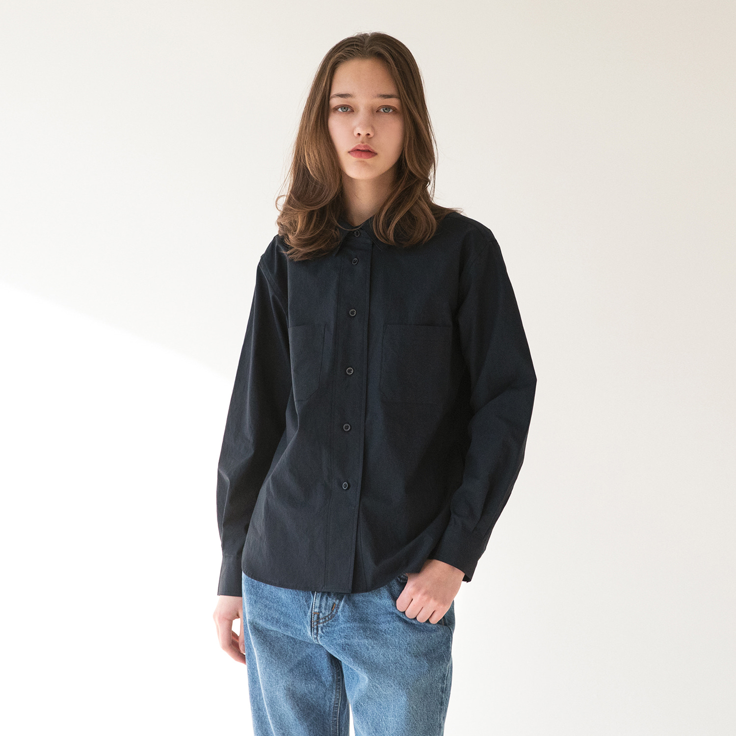 Women Editor Shirt (Dark Navy)