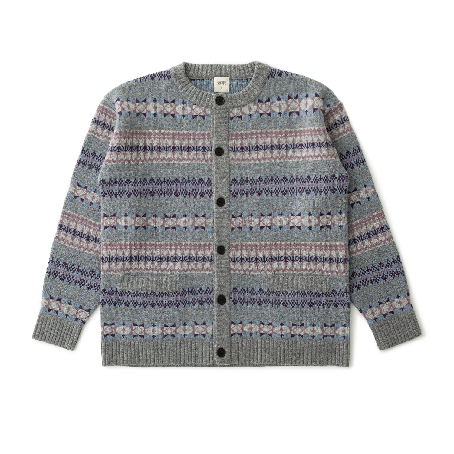 Grandma Fairisle Cardigan (Heather Gray)