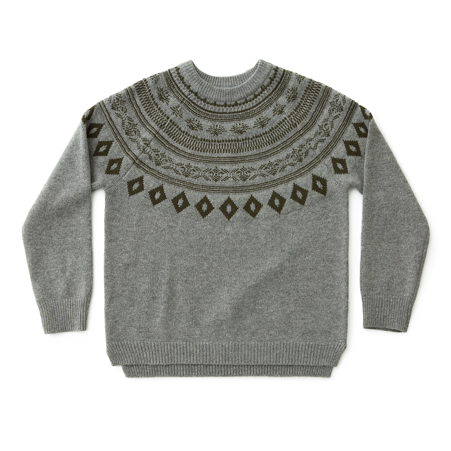 Grandpa Nordic Pullover (Heather Gray)