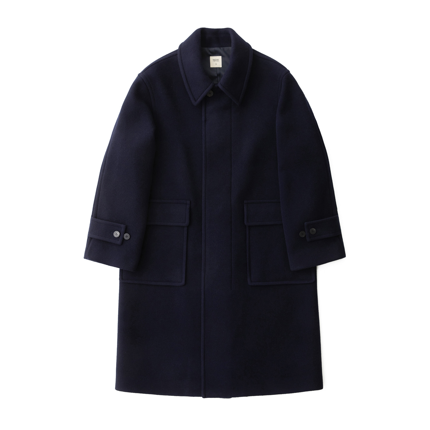 Editor Cashmere Oversized Coat (Solid Navy)