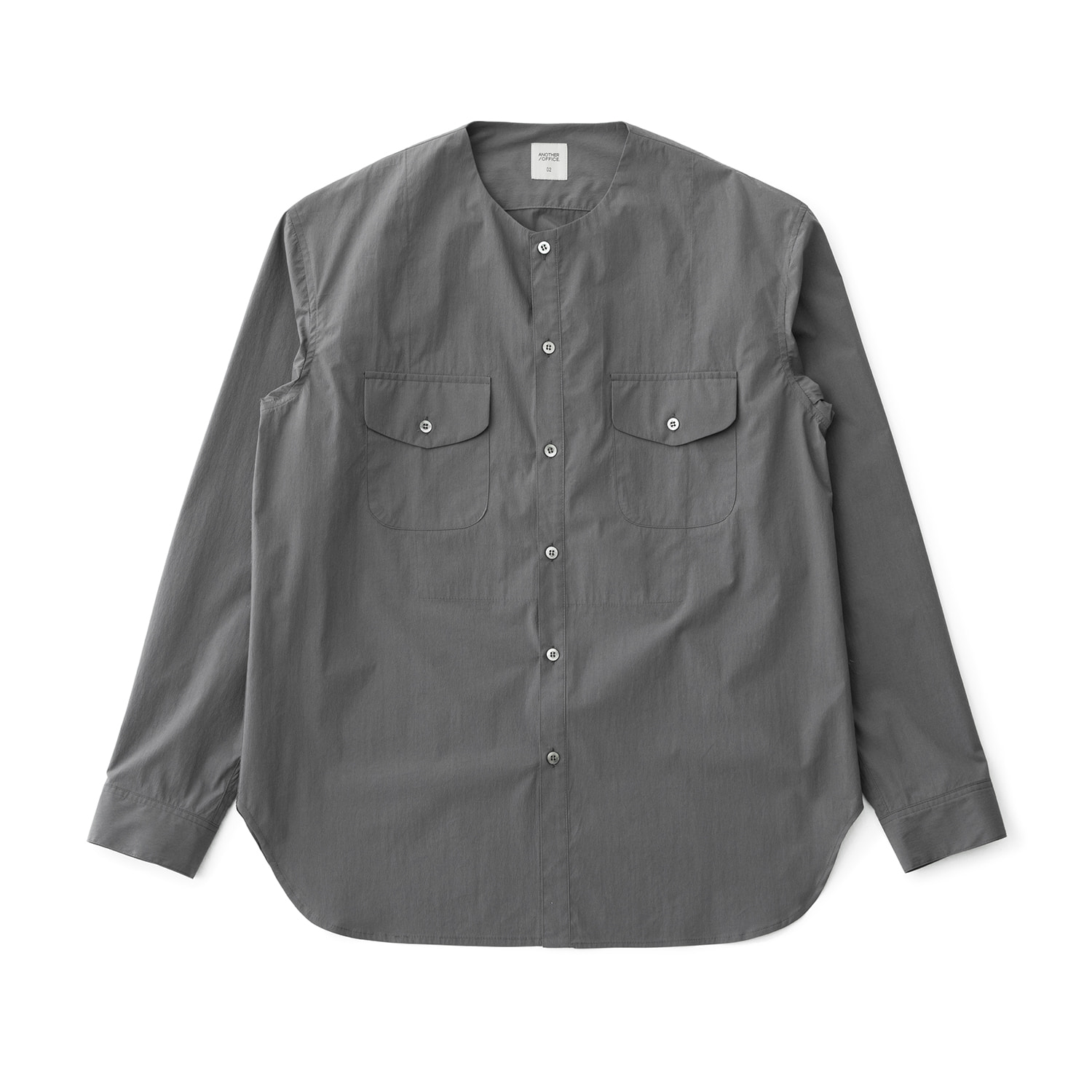 21SS Layer Round-neck Shirt (Slate Gray)