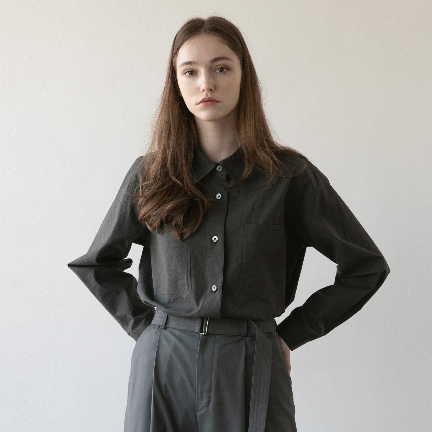 21SS Women Volume Shirt (Pewter)