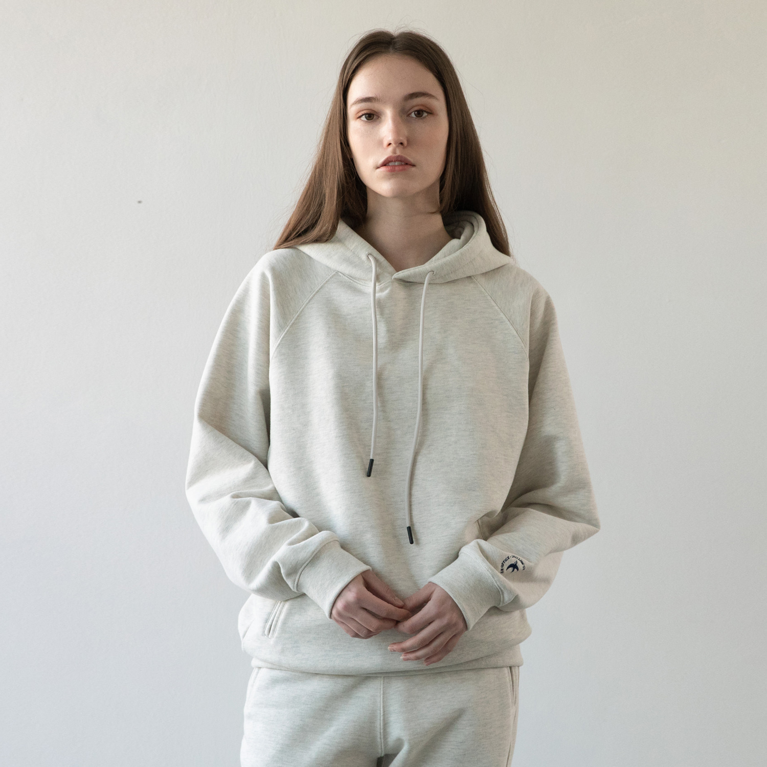 21SS Women Swallow Gymnasium Hoodie (Oatmeal)