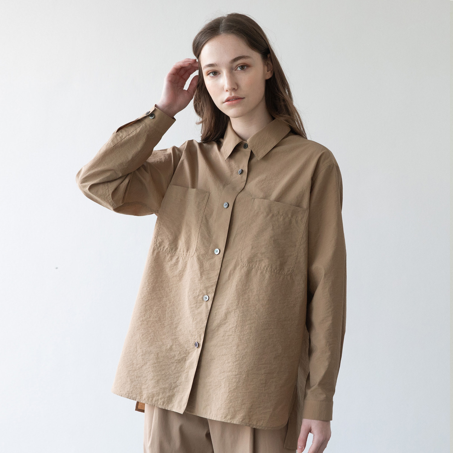 21SS Women Volume Shirt (Desert Tan)